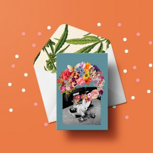 Flower Breath Greeting Card