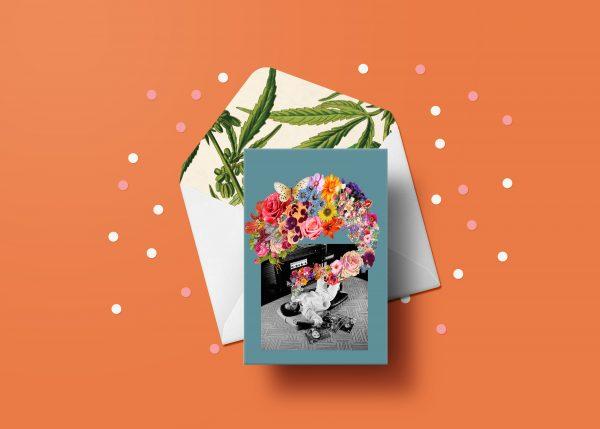 Flower Breath Greeting Card