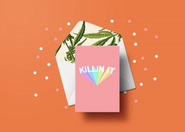 Killin It Greeting Card